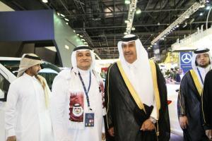 Sheikh Hamad Bin Jassim Al-Than visiting Motor Show